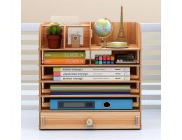 Træ bogreol opbevaringshylde til kontor og skole