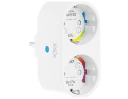 Smart-stik KSIX Smart Energy Duo WIFI 250V Hvid