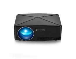 AUN C80 LCD-projektor 2200 lumen 1280x720 opløsning HD VGA USB Office LED-projektor Home Theater
