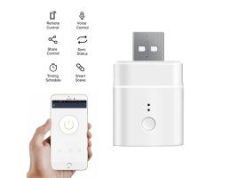 SONOFF Micro 5V Wireless USB Smart Adaptor WiFi Mini USB Power Adaptor Switch APP Remote Control Voice Control Switch For Smart Home virker med Alexa og Google Home