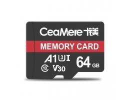 Ceamere hukommelseskort 64 GB C10 højhastigheds TF-kort datalagring MP4 MP3-kort